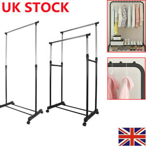 Heavy Duty Clothes Rail Rack Garment Hanging Display Stand Shoe Storage Shelves