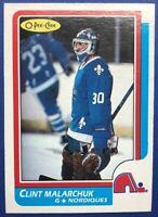 1986 O Pee Chee Rookie #47 Clint Malarchuk Survivor Of Worst NHL Injury Ever.