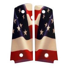 Custom Full Size 1911 Grips Ambidextrous American Flag Colt Kimber Springfield