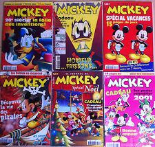 (M34) Lot de 6 JOURNAL DE MICKEY années 90-2000