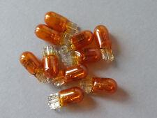 100x WY5W 12V/5W T10 Sockel W2,1x9,5d Blinkerbirnen Seitenblinker orange