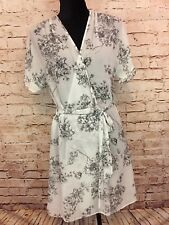 Apt 9 Womens Bath Robe Night Gown Sheer Floral Small