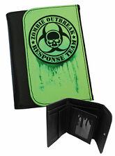 Zombie Outbreak greenglo para hombre Bi-Fold de imitación de cuero cartera para