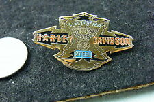 HARLEY DAVIDSON PIN ELECTRIFIED STEEL SOLID BRASS