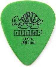 JIM DUNLOP TORTEX GUITAR PICKS GREEN .88mm MEDIUM (12-PACK) *NEW* 418P88