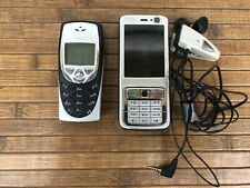 LOT of 2 Vintage Nokia Cell Phones With Nokia Headset