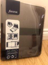 "Filofax Fusion A5 iPad Folio Case Leather diary For Apple & 9.7"" Devices Grey"