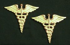 New listing Us Army Medical Corps Officer Collar Insignia; Pair