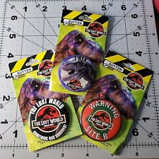 Jurassic Park The Lost World Vintage Button Set of 3 From 1997