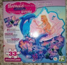 Mermaid PRINCESS Jigsaw Puzzle 33 Piece Big Unique Shaped Puzzle NEW 5+