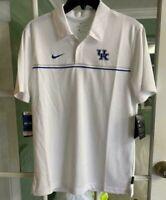 Nike Men's Kentucky Wildcats Dri-FIT Sideline White Polo Rare CN7848-100 Size S