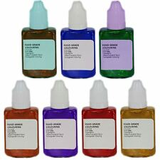 2 X Concentrated Food Colouring Liquid Set 30ml Bottle Baking Cake(made in U.k.) Blue Purple