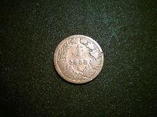 1858 Austria 1 Kreuzer Coin. BEL Tono
