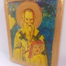 Saint Clement San Clemente Clemens Klimes Byzantine Greek Orthodox Rare Icon Art