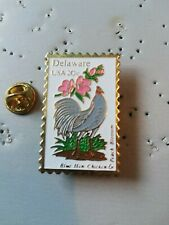 Pin's Pins timbre stamp postage Delaware usa coq poule chicken