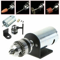 "Hand Drill DIY Lathe Press 555 Motor With 1/8"" Chuck + Mounting Bracket Tool Kit"