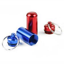 6pcs Waterproof Aluminum Pill Box Bottle Cache Drug Keychain F3E2