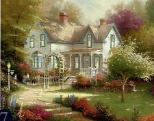 "Thomas Kinkade ""Home Is Where The Heart Is II"" Boxless Puzzle Flower *NEW*"