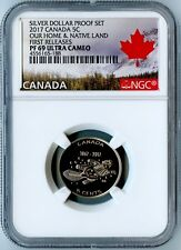 2017 CANADA NGC FIRST RELEASES PF69 UCAM OUR HOME & NATIVE LAND BEAVER 5C!