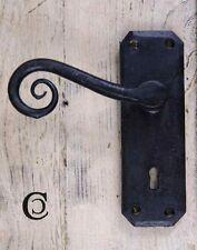 Türgriff 'Curly Tail' mit Schlüsselloch Schwarz Wax 125 mm (Paar)