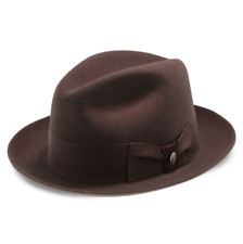 Frederick Mink Color Stetson Wool Fedora Made in Texas with Leather Sweat Band