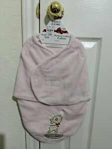 Baby's 1st Christmas Girl  Blankets and Beyond Pink Fluffy Baby Swaddle size 0-3