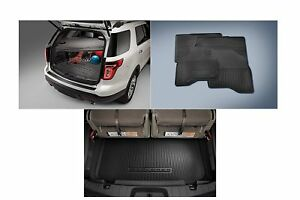2016 Ford Explorer All Weather Floor Mat 3rd Row Seat & Cargo Area Protector OEM