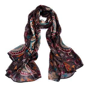 Women Fashion Accessory Bohemia/Folk Paisley Flower Scarf/Wrap/Shawl