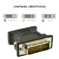 HDMI adapter DVI 24 + 5 Pin male to VGA female Connector C6S1 -NEW Adapter Q9B3