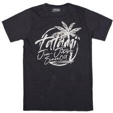 Tatami T-Shirt Palm Tree Washed Navy t-shirt BJJ Jiu Jitsu Casual No-Gi
