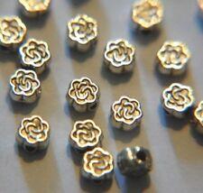 40 x Tibetan Silver FLOWER SHAPE Spacer Bead - Antiqued SP ~ 5mm