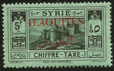 1925 Alaouites French Syria Postage Due Overprint Mint MLH Stamp Scott J10 $11.0
