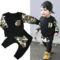 GB Bebé Recién Nacido Niño Trajes Ropa T Camiseta + Pantalones camuflaje set