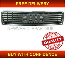 AUDI A4 2000-2004 FRONT CENTRE RADIATOR GRILLE WITH CHROME TRIM 8E0853651F3FZ
