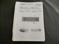 Original Service Manual  Blaupunkt Autoradio Frankfurt Super Arimat  7636646