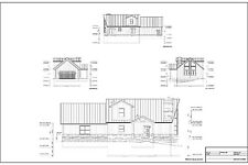 Full Set of two story 3 bedroom house plans 1,720 sq ft