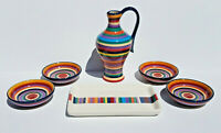 Tabletops Unlimited Havana Appetizer Dishes Cruet Tray Hand-Painted Dinnerware