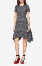 NWT BCBG MAX AZRIA Arsley Deco-Knit Dress Black/White Size XS