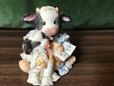 Vintage 1993 enesco mary's moo moos pasture bedtime cow figurine 627763