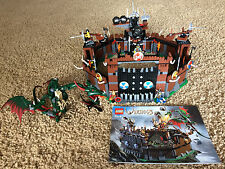 Lego 7019 Vikings Viking Fortress Against the Fafnir Dragon Minifigs 100% Set