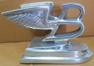 Polished Aluminium Flying B BENTLEY Hood Emblem Mascot - Deskstand
