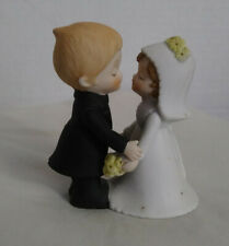 Lefton China #00302 Bride And Groom Hand Painted Wedding Cake Topper