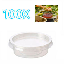 100x 2oz Clear Plastic Containers Tubs with Separate Lids Food Safe Takeaway