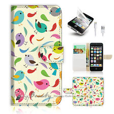 ( For iPhone 5 / 5S / SE ) Wallet Case Cover! P0764 Bird Feather