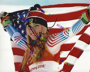 MIKAELA SHIFFRIN 2018 WINTER OLYMPICS GOLD Signed Autographed 8x10 photo Reprint