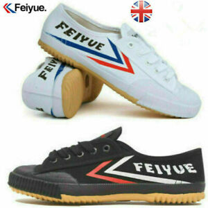 Feiyue Ladies Sports Canvas Mens Track Field Training Casual Parkour Shoes