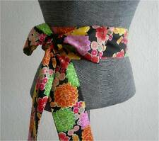 "Japanese OBI Sash KUMI Belt Yukata Wedding Floral Pattern/ 3"" W x 107"" L"
