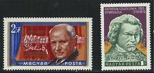 Ungarn sc2022&2031 twofamouscomposers: franzlehar & ludwigvanbethovenstatuemnh 1970
