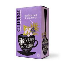 💚 Clipper Organic Cassis et Acai Berry Infusion 20 bags