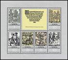 GDR Klbg. 2013/18 Sheetlet, 450. Anniversary German Bauernkrieges